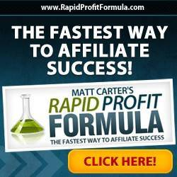 rapid profits formula - matt carter