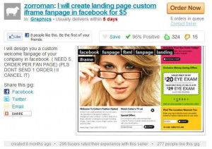 fiverr outsoource guide- facebook iframe fanpage