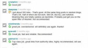 fiverr find Virtual Assistant - sample customer service user feedback