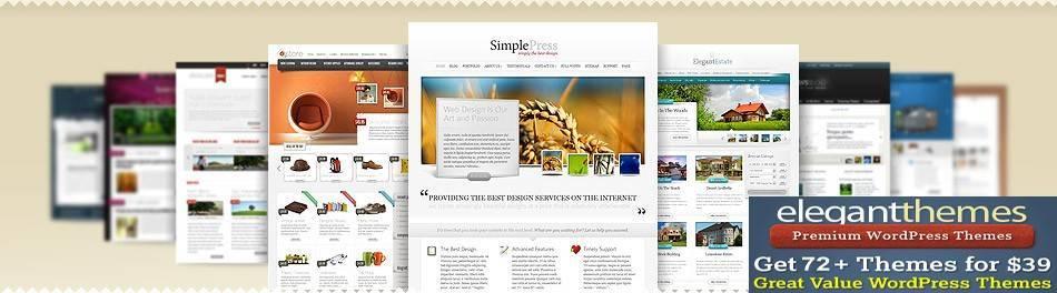 cheapest premium wordpress themes - elegant themes