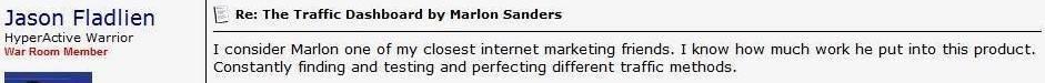 best marlon sanders bonus traffic dashboard review